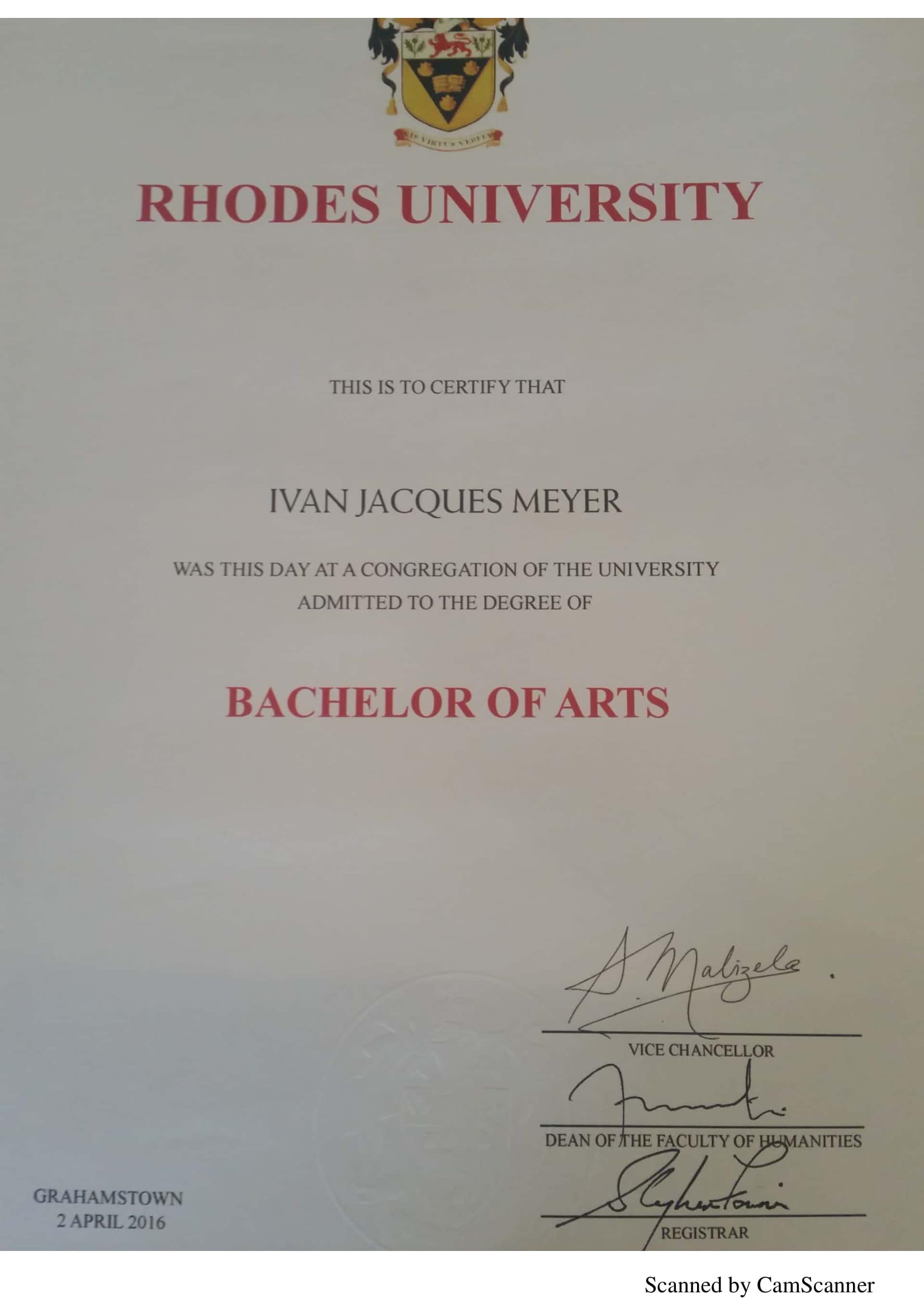Bachelors degree 1