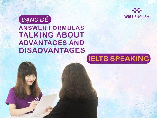 dang de answer formulas talking about advantages and disadvantages 1