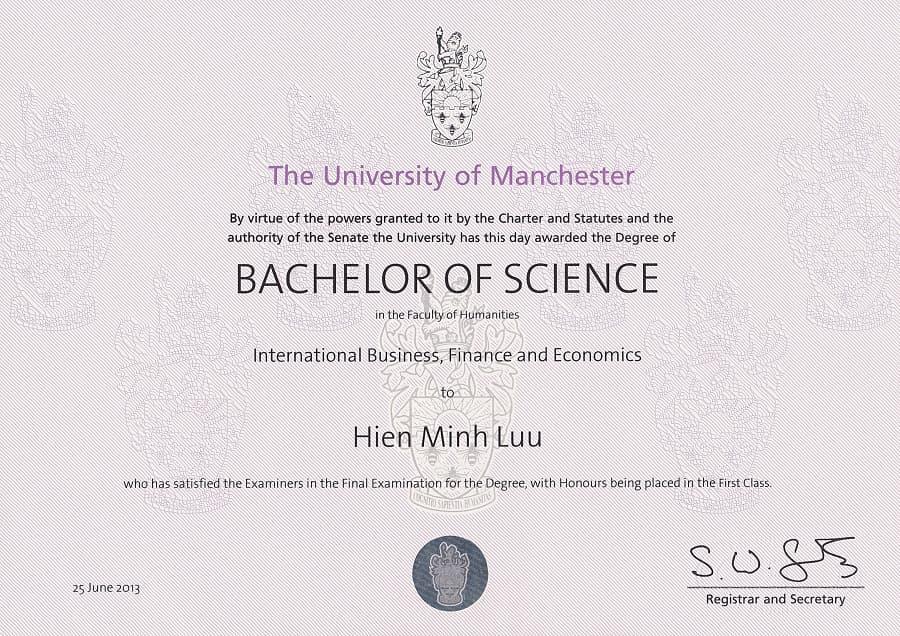 HIEN MINH LUU_BSc Certificate