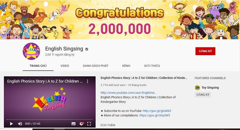 tieng anh cho be video english singsing