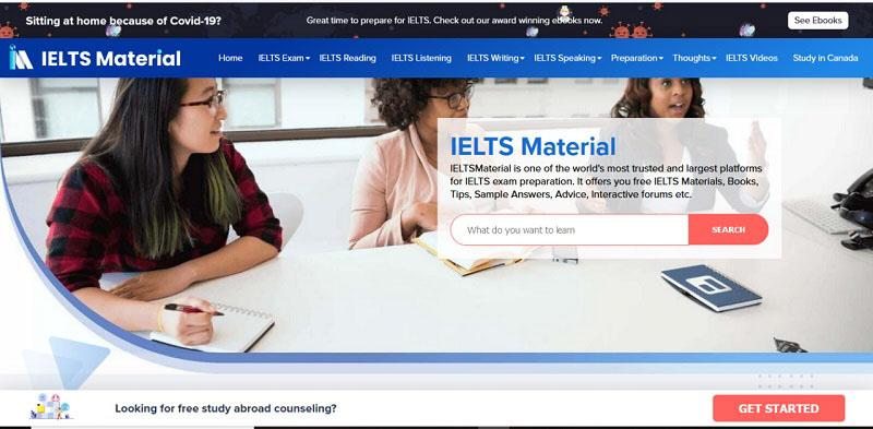 website luyện thi IELTS online