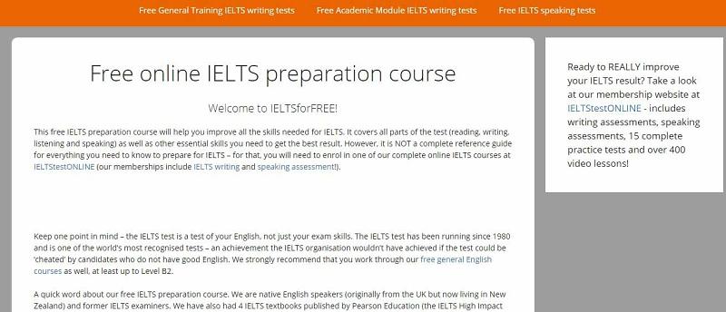 Giao dien website IELTS For Free