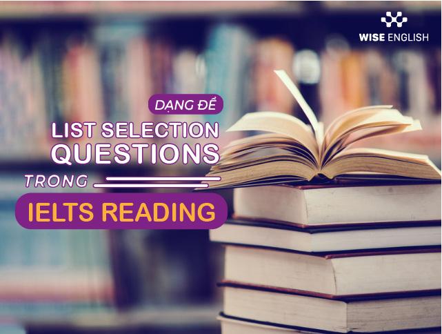 list selection questions ielts reading