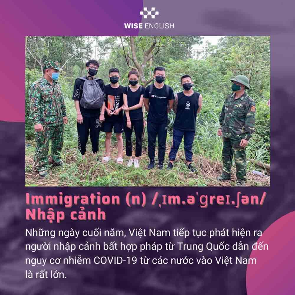 Immigration - Tổng hợp từ vựng tiếng Anh theo chủ đề