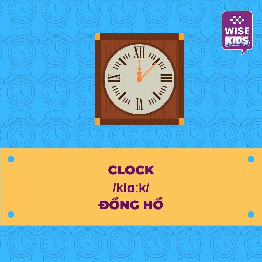 tu vung do vat clock