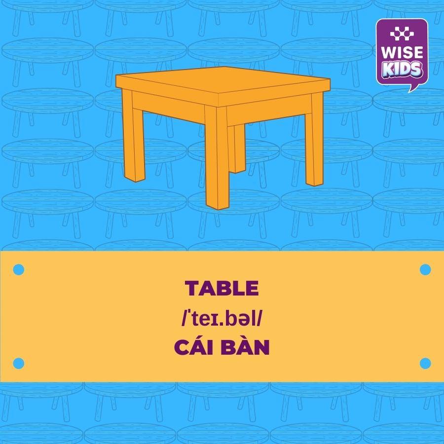 tu vung do vat table