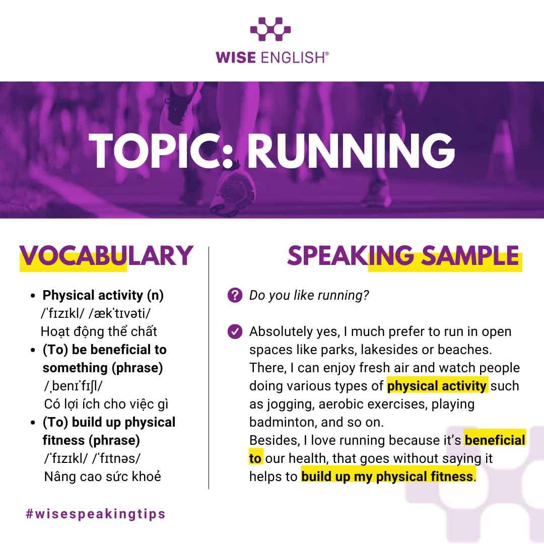 IELTS speaking sample part 1- running
